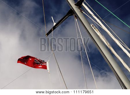 Yacht  Mast  Flying Flag.