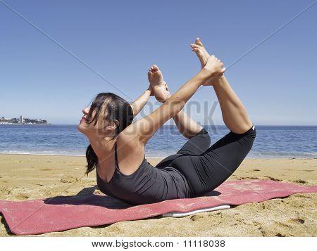Bikram Yoga Dhanurasana Pose
