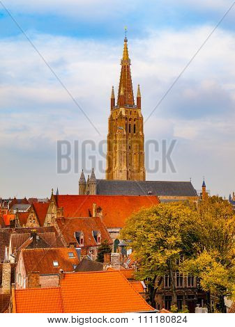 Church of Our Lady tower in Bruges
