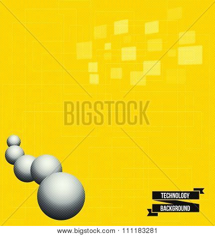 Abstract pure yellow  background