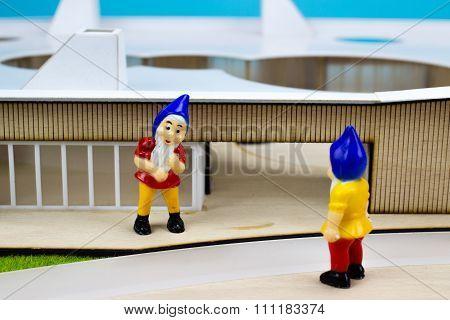 Two Garden Dwarfs