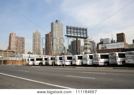 Buses Garage In New York