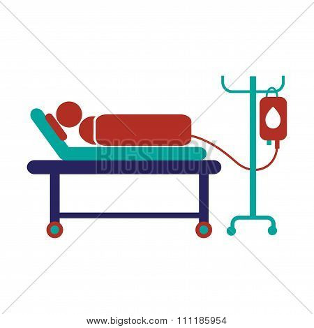 Modern flat icon on white background People transfusion
