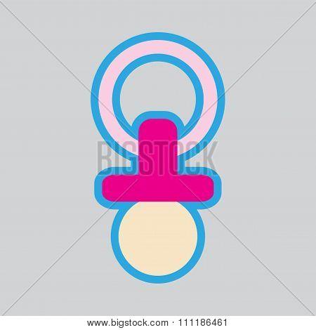 Modern flat icon stylish background baby Nipple