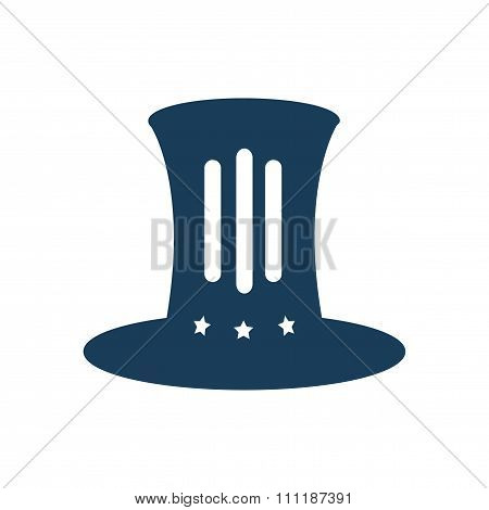 flat icon on white background  hat Lincoln