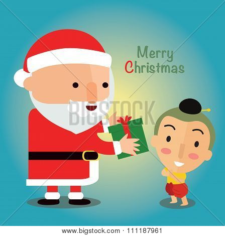Merry Christmas with Thailand children