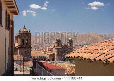 Cityscape Of Cusco, Peru, With Clear Sky
