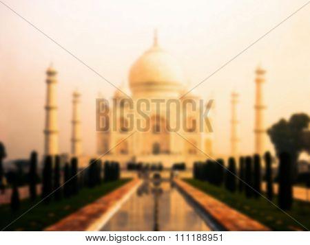 Taj Mahal blurred