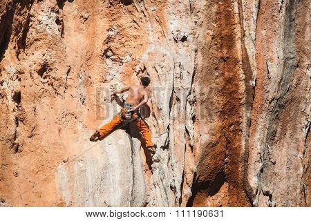 Bold choice - rock climbing