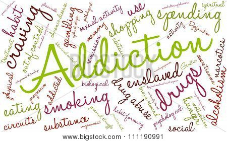 Addiction Word Cloud