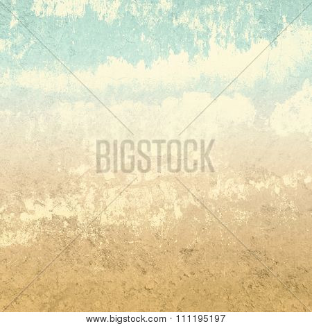 Retro background in earth colors with abstract clouds