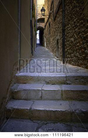 Dark Stone Stairs Street