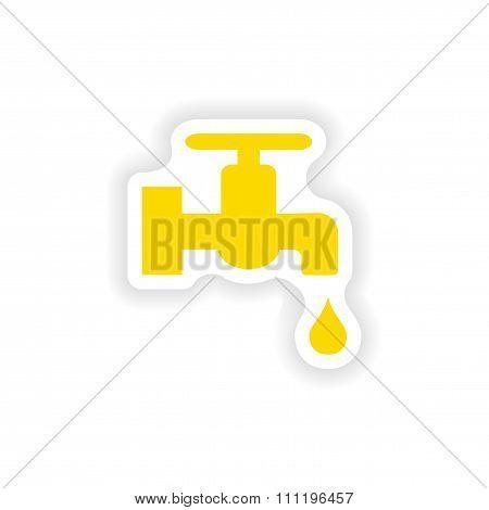 icon sticker realistic design on paper tap