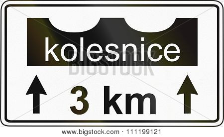 Slovenian Road Sign - Kolesnice Means Rut