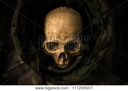 Still Life Soldier Skull
