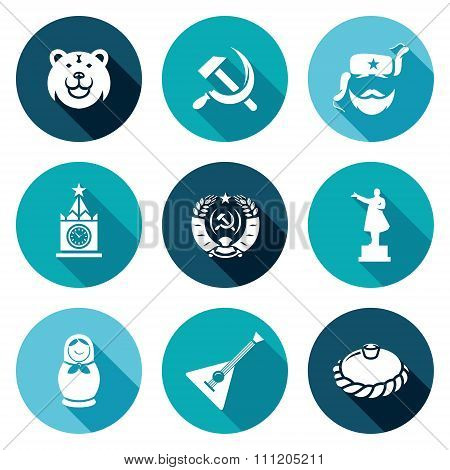 Russia Icons Set. Vector Illustration.