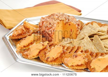Cheeseball And Crackers