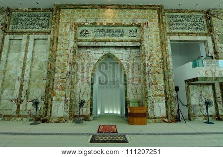 Interior of An-Nur Mosque a.k.a Petronas Technology University Mosque