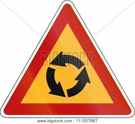 Korea Traffic Safety Sign - Attention - Rotary