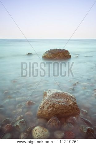 Baltic Seascape With Stones