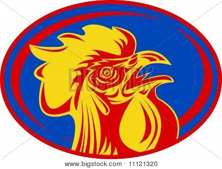 rooster cockerel cock rugby mascot