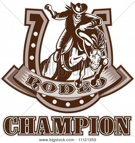 Rodeo Cowboy bronco horse horseshoe