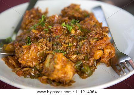 Manchurian Gobi Meal In Varkala