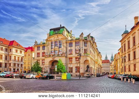 Prague, Czech Republic-september 13, 2015: Quarters And Streets With People On  Prague's Mala Strana