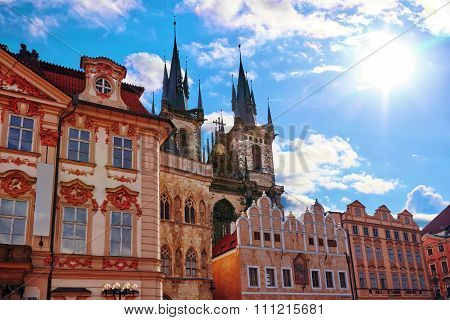 Church Of Our Lady(staromestske Namesti)on Historic Square In The Old Town Quarter Of Prague.it Is L