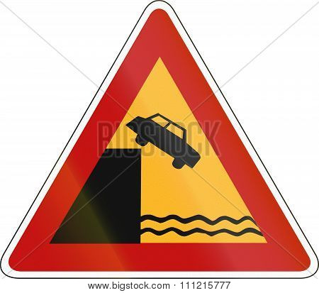 South Korea Road Sign - Quayside Or River Bank
