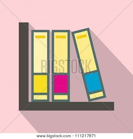 Folders on the shelf icon