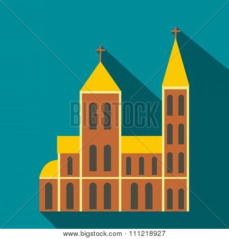 Catholic church flat icon