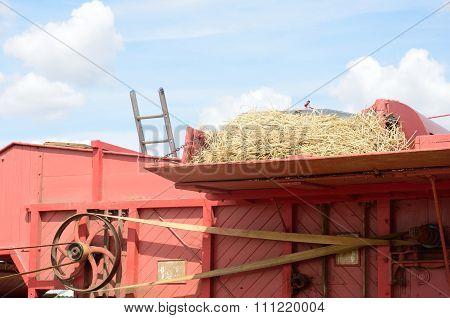 Top of old Threshing Machine