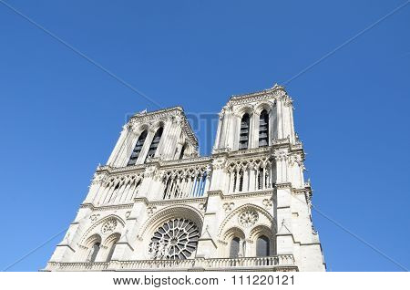 Front of Notre Dame Cathedral Paris