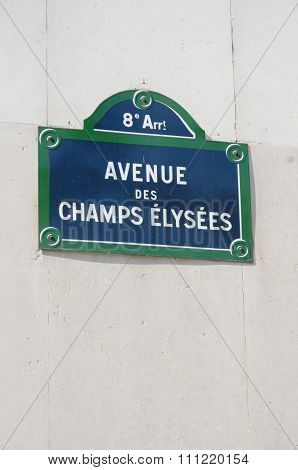Champs Elysees street sign