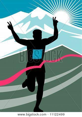 Marathon runner run race