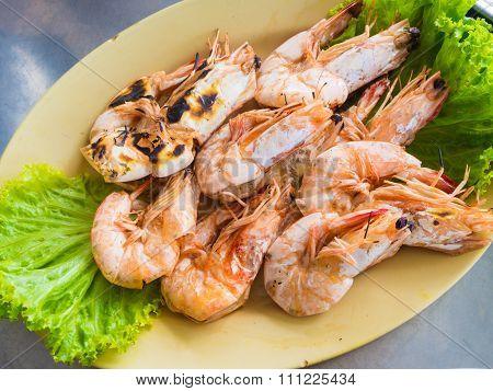 Grilled Shrimps Steak