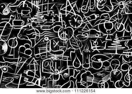 Crayon Painted Symbols