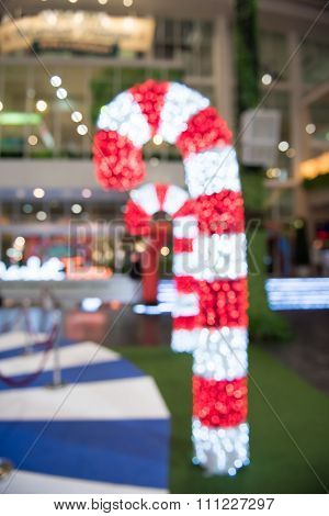 Blur christmas festival decorations