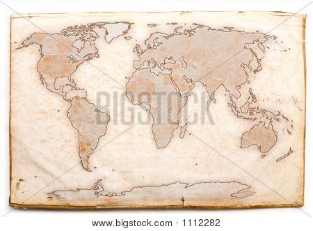 Mappa Mondo Antichizzata