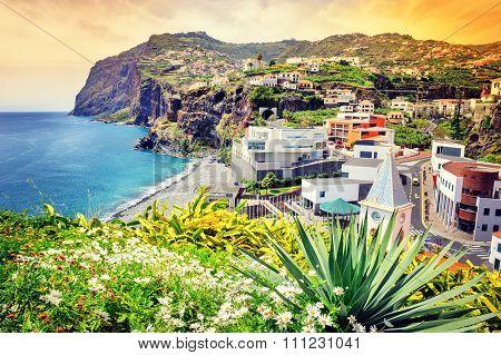 View Of Camara De Lobos, Small Village On Madeira Island