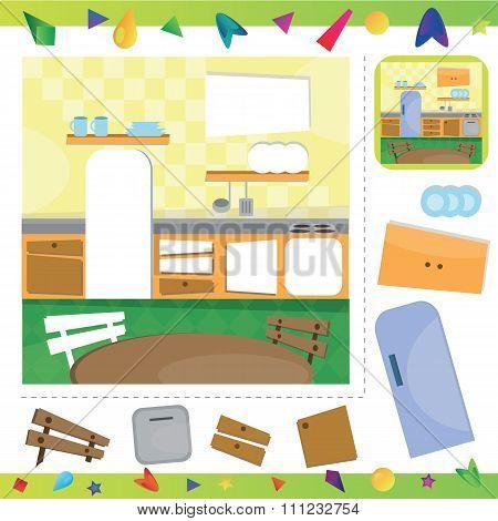 Kitchen interior puzzle