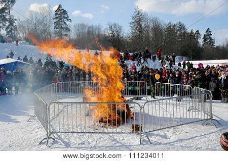 Gatchina, Leningrad Region, Russia - March 5, 2011: The Traditional Russian Holiday Maslenitsa