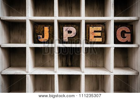 Jpeg Concept Wooden Letterpress Type In Drawer