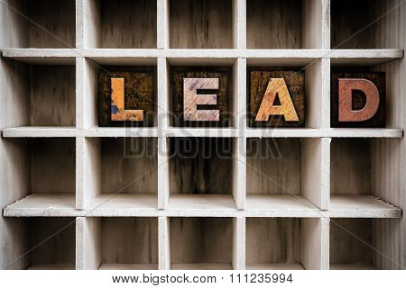 Lead Concept Wooden Letterpress Type In Drawer