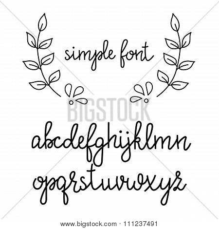 Simple Handwritten Cursive Font