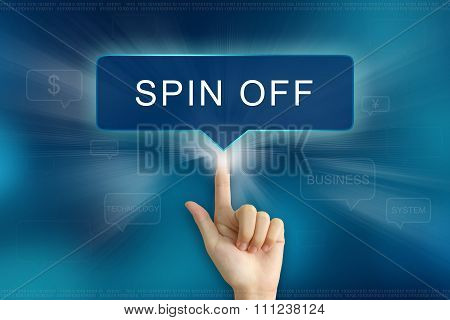 Hand Clicking On Spin Off Button