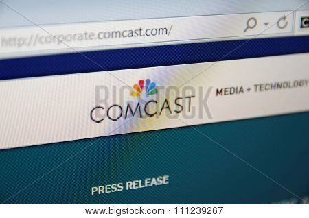 Comcast corporate page