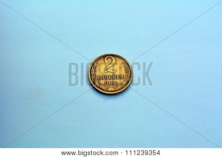 Soviet coins -  2 copeck (1990 year)
