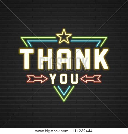 Retro Thank You Message Sign Design